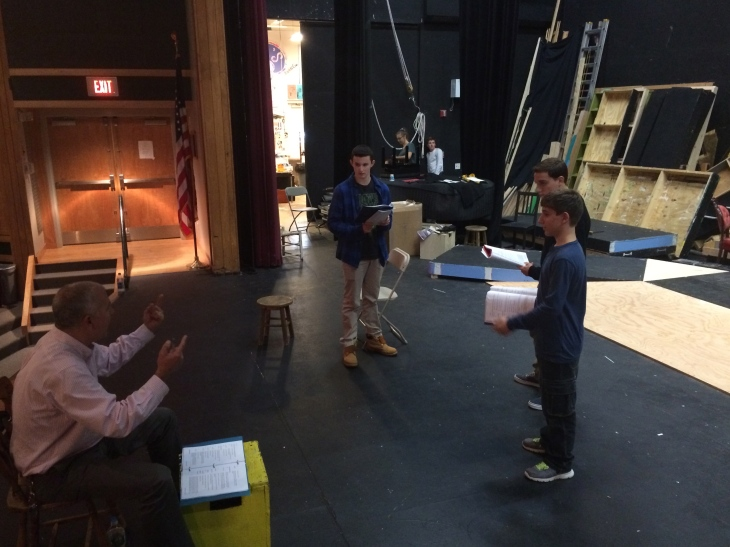 """Mr. Jacob directs his actors in the upcoming performance of """"Great Expectations."""""""