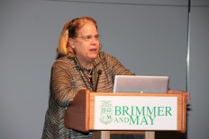 Photo by Jody Weinberg: Frances Fremont-Smith '75 delivers keynote.